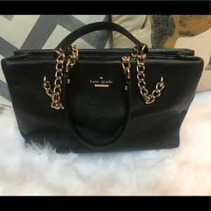 KATE SPADE chain link straps tote bag w/ 5 pockets